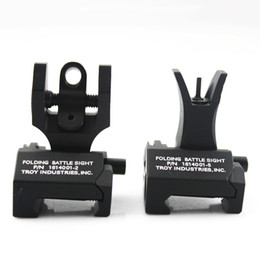 """Wholesale M4 Folding - Wholesale """"Y"""" Troy Front And Rear Folding Battle Iron Sights for M4 Free Shipping"""