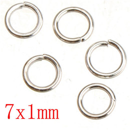 Wholesale Metal Charm Letter Sliders - sterling silver plated jump rings diy iron metal open round 1mm thick new fashion wholesales jewelry findings 5mm 7mm shipping free 500G