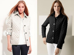 Wholesale Quilted Coat Black - Wholesale - Women's Jacket Simple Fall Padded Padded Casual Coat Jacket Fashion Jacket Plaid Quilted Padded Papers