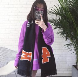 Wholesale Male Cashmere Scarf - Black Color Orange Color Scarf Female Male Unisex Scarves Women Tassels long winter Scarf 170*20cm