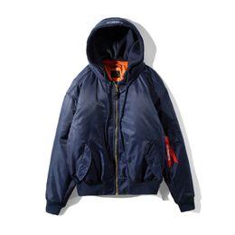 Wholesale High Fashion Men Jacket - 2017 High-Quality Womens Men Fashion Hoodies and Sweatshirts Simon Jacket Vetements MA-1 Bomber Jacket Blue Gray Green Tourist Hoodie