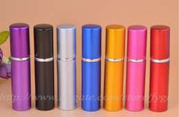 Wholesale Travel Size Spray Bottles - Portable Perfume Bottle Refillable Atomizer metal aluminum empty perfume spray bottles Mini Travel Size ( 5ml) Portable spray bottle