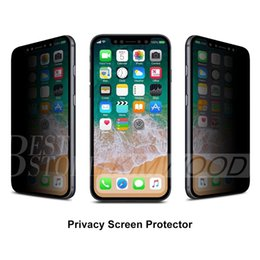 Wholesale Iphone Galaxy Screen - Privacy Tempered Glass for Iphone X Iphone 7 Plus Iphone 6S Plus 5 Samsung Galaxy S7 S6 S5 Note 5 Screen Protector Anti-Spy
