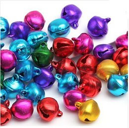 Wholesale Mixed Jingle Bells Charms Pendant - Free Shipping 8MM 12MM Mixed Color Jingle Bell Small Bells Fit Festival Jewelry Pendants Charm Beads D0112