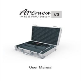Wholesale Tattoo Machines Cases - Permanent Makeup Machine Artmex V3 Profession Microneedle System Electric Microneedle Pen Suit-case Tattoo tools Motor Pen