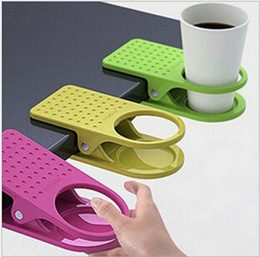 Wholesale Clip Water Holder - Table Glass Water Cups Clip Drinklip Cup Holder Glass Holder Mug Office Tumblerful Glass Clamp shipped by DHL A-2101