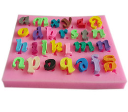 Wholesale candy cake letters - letters fondant mold,clay candy resin molds, silicone soap mold,silicone cake mould,fondant cake decorating tools TY1768