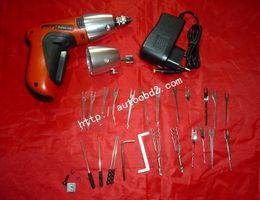 Wholesale Car Cordless - Original ordless Klom Electric Pick Gun OBD2 car locksmith tool free shipping Electric Pick Gun,Cordless Electric Pick Gun