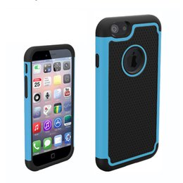 Wholesale Iphone 5c Armor Case - Ball dermatoglyph Hybrid Dual Layer Shockproof Armor Defender Protective Case Cover Hard Plastic+Soft Silicon for iPhone 5c
