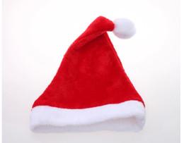 Wholesale Black Santa Hats - Wholesale-Christmas Santa Hat Christmas decorations, Christmas hats high-grade velvet short plush hat red white