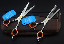 Wholesale Shears Sets - Human Hair Scissors Set 5.5 INCH 6.0 INCH Hair Shears Cutting Scissors and Thinning Scissors for Barbers or Home Used 1 Set Free Shipping