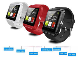 Wholesale Waterproof Cell Phone Watches - U8 Smart Watch Bluetooth Altimeter Anti-lost 1.5 inch Wrist Watch For Smartphones iPhone Android Samsung HTC Sony Cell Phones