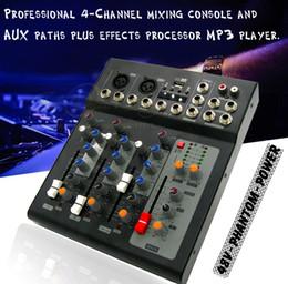 Mikrofoneffekte online-Professionelle Effekt 2 Kanal Mono 4 Kanäle Karaoke Mikrofon DJ Mixer Audio Mixer Konsole USB Digital Prozessor Musik Soundeffekte
