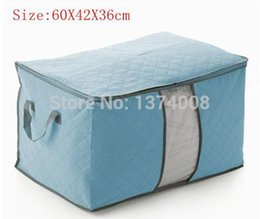 Wholesale Quilt Setting Kit - 2014 New Free Shipping 1Pcs Blue Bamboo Clothing Quilt Pouchs Finishing Boxs Type Queen Quilt Pouch Tricolor Packaging Bags HOT
