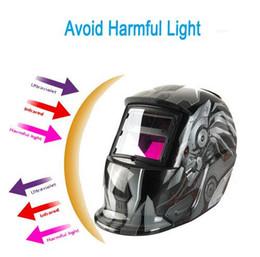 Wholesale auto darkening welding helmet lens - Transformers Style Cool Solar Auto Darkening Welding Helmet ARC TIG MIG Weld Welder Lens Grinding Welding Mask