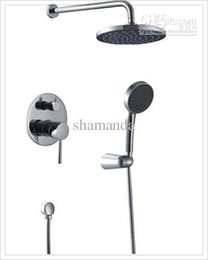 """Wholesale Laundry Tub Faucets - Wholesale-mixer antique Copper In-Wall Faucet Bath and Shower Mixer ABS Chrome 8"""" Rainfall Shower Set-17507 steel laundry tub"""