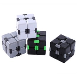 high quality hand fidget spinner Promo Codes - High Quality Infinity Cube Fidget Cube Anti Stress Magic Finger spinners Hand Out Door Game Toys Metal Adult ADHD Toy