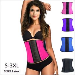 952e470a12 2015 Steel Boned Corset Waist Trainer Rubber Latex Sport Women Cincher  Corset Underwear Bustiers Slimming Body Shaper XS-3XL 4 Colors Plus