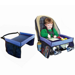 Wholesale Toddler Baby Car Seats Safety - 5 Colors Baby Toddlers Car Safety Belt Travel Play Tray waterproof folding table Baby Car Seat Cover Pushchair Harness C3153