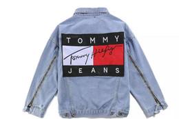 Wholesale Man Jeans Jacket New - TOOMYY Denim jacket hip hop Pablo men Jackets Brand New streetwear couple Vintage Denim Patch Designs Jeans Jacket