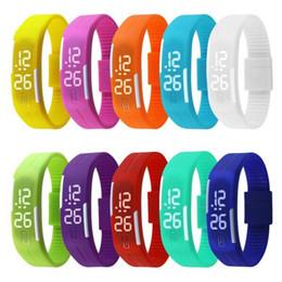 Deutschland Weißlicht Uhr Sport Rechteck Led Digitalanzeige Touchscreen Uhren Gummi Gürtel Silikon Armbänder Armbanduhren DHL Versorgung