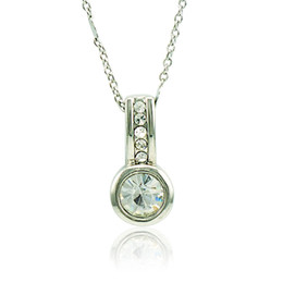 Wholesale Rhinestone Whistle - 2016 Brand New Pendant Necklace Fashion White Rhinestone Whistle Charms Silver Plated Necklace For Men Jewelry QRXL0032