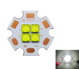 Deutschland Cree XT-E 4 Led Chips Warm White / White / Royal Blue Led Licht 6 V / 12 V 110 Grad 50 teile / los Versorgung