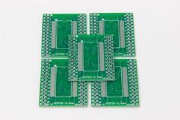 Wholesale Ic Socket Adapters - 5pcs TSSOP56 SOP56 turn DIP56 56pin SDRAM 0.635mm 0.8mm IC adapter Socket Adapter plate PCB