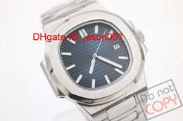 Wholesale Dating Men - Luxury brand high quality automatic Mechanical men watch blue dial Sapphire stainless steel Transparent glass back men's watches