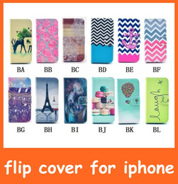 Wholesale Galaxy S4 Mini Flip Covers - Painting Print Wallet Flip Leather Case Cover Skin for Samsung Galaxy Note 4 3 S5 S5 Mini S4 S4 Mini S3 S3 Mini High Quality Free Shipping