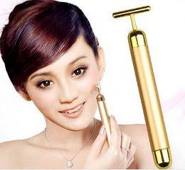 Wholesale Ba Battery - Technology From Japan 24K Gold Face Skin Massage Roller Derma Body Firming Massager Electric Energy Beauty Ba