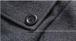 Wholesale Mens Hooded Peacoat - Fall-Mens Winter Jacket Trench Coat Warm Lined Hooded Detachable Casual Peacoat Parka YY20