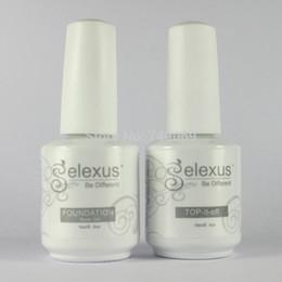 Wholesale Soak Off Gelexus - Wholesale-Free Shipping 2Pcs lot New Gelexus Soak Off UV Nail Gel Polish 1Pc Base Gel and 1Pc Top Coat