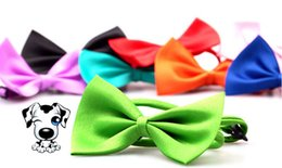 Wholesale Green Pink Tie - Dog Pet Bowties Genteel Bowknot Handsome Dog Neck Tie Cat Ties Collars Pet Grooming Supplies Free Shipping