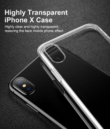 Wholesale Crystal Transparent Case - iBaby888 for iPhone X Soft Back Cover Case 0.3mm Crystal Clear Silicone Transparent TPU Case Cover for iPhone 8 Plus 7 6s 6 Galaxy S8+ Note8
