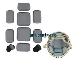 Wholesale Military Safety Helmets - Airsoft Hunting FMA Protective Pad for CP Helmet Tactical Military Combat Safety Light Helmet Equipment Pad Free Shipping Gray~ order<$18no