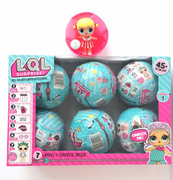 Wholesale Color Changing Toys - 6pcs  Set Series 1 Lol Surprise Doll Color Change Egg Ball Toys Dress Up Toy Action Figure Dolls Funny Toys Girls Gift Randomly