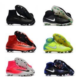 Wholesale Ankle Boots 12 - New Superfly V AG FG Mens Soccer Shoes Cheap Magista obra II FG Kids Soccer Cleats Free Shipping Youth Women Ronalro Ankle Football Boots