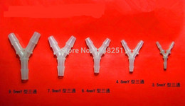 Wholesale Y Type Filter - LOT5 Equal Y Type Polypropylene Barb Plastic Silicone Hose PVC Tube Connection Joiner Fitting Aquarium Fish Tank Airline