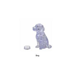 DIY 3D Jigsaw Crystal Puzzle Cute Dog plastica decorazione della casa regalo di compleanno da caso sveglio del cane 3d fornitori
