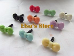 Wholesale Bow Anti Dust Earphone - 100pcs lot candy color cute bow anti Dust Plug for iphone sumsang 3.5mm Earphone jack plug to heahphones free shipping