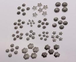 Canada Chaud! 300pcs antique argent alliage 14-style fleur perle bijoux accessoires (mm30) cheap bead caps Offre