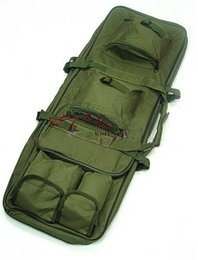 Wholesale Dual Gun Case - 100cm 1M 40 inch Dual Tactical Carrying Case Bags for ourdoor Sport Gun AEG Rifle Sniper Army green