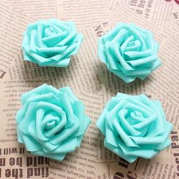 Wholesale Wholesale Floral Foam Balls - 6.5CM Tiffany Blue Artificial Floral Foam EVA Large Roses Heads,DIY Wedding Kissing Balls,Bridal Bouquet Supplies,wrist corsage