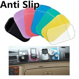 Wholesale Iphone Sticky Mats - Anti Slip Mats Sticky Pad Non Slip Mat Car Durable Powerful Silica Gel Magic Car Sticky for iphone 6 6S Samsung S6 plus MP3 MP4
