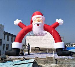 Arco de entrada on-line-Frete grátis ar inflado natal inflável Santa Claus Arch Porta de entrada para o feriado