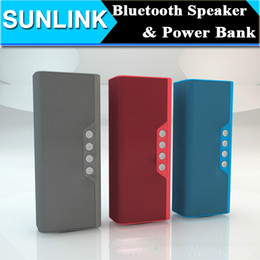 Wholesale External Speakers For Mobile Phones - New Bluetooth Mini Speaker Wireless Audio MP3 Stereo Music Player Sound Box + Portable Power Bank Supplier External Battery Charger