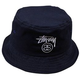 markenhüte für großhandel Rabatt Großhandels-2015 Sommer-Modemarke Woolen Eimer-Hut Sun Striped HipHop Fischer-Kappen-Tarnung