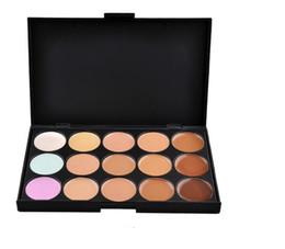 Wholesale Camouflage Makeup - Lady women 15 Color Makeup Eyeshadow Camouflage Facial Concealer Palette Eye Shadow Professional