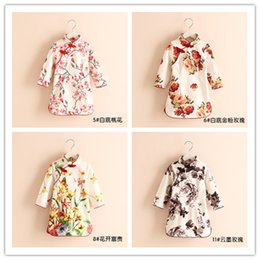 Wholesale Chinese Tang Suit Style Child - 2016 New Spring 20 Colors China Tang Suit Female Children Long-sleeve Cheongsam Girl Dress Kids Princess Dresses Children's Clothing
